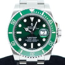 Rolex 40mm Automatic 2017 pre-owned Submariner Date Green