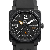 Bell & Ross BR 03-51 GMT new 2019 Automatic Watch with original box and original papers BR0351-GMT-CA