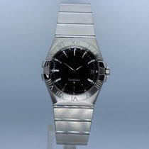 Omega Constellation Quartz Steel 35mm Black No numerals United Kingdom, Andover
