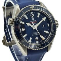 Omega Seamaster Planet Ocean pre-owned 37.5mm Blue Rubber