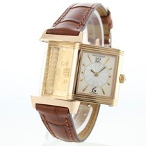 Jaeger-LeCoultre Red gold Manual winding Arabic numerals 21mm pre-owned Reverso Duetto