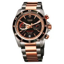 Tudor Grantour Chrono Fly-Back Gold/Steel 42mm Black No numerals United States of America, New York, Greenvale