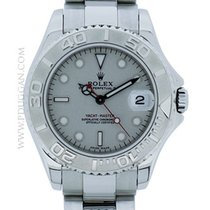 Rolex stainless steel and platinum mid-size Yacht-Master