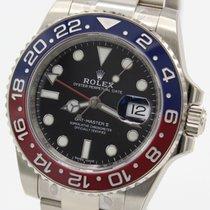 Rolex GMT Master Ref. 116719BLRO Weißgold B+P LC170