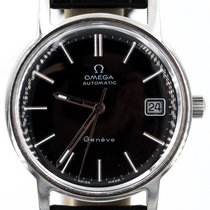 Omega Vintage Omega Automatic Date Black Dial 34mm Stainless...