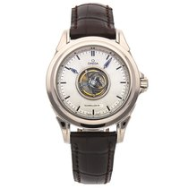 Omega De Ville Central Tourbillon pre-owned 38.6mm White gold