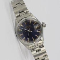 Rolex 26mm Automático 1969 usado Oyster Perpetual Lady Date Azul