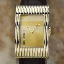 Boucheron 21mm Quartz 2010 pre-owned Reflet Gold