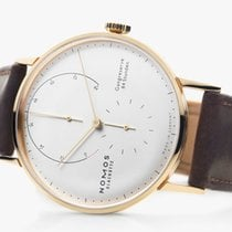 NOMOS Lambda Rose gold 42mm Silver No numerals United States of America, New Jersey, Princeton
