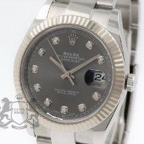 Rolex Datejust Stahl 41mm Grau Keine Ziffern Schweiz, Zürich
