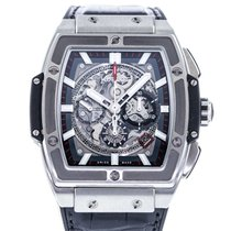 Hublot Spirit of Big Bang pre-owned 45mm Transparent Date Leather
