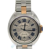 Cartier Clé de Cartier Steel 40mm Silver Roman numerals United States of America, New York, New York