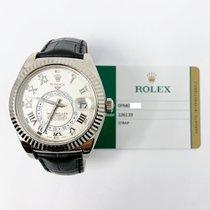 Rolex Sky-Dweller Witgoud 42mm Wit Romeins