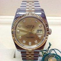 Rolex Datejust 116233 Muito bom Ouro/Aço 36mm Automático