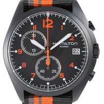 Hamilton Khaki Pilot Pioneer new 2019 Quartz Chronograph Watch with original box and original papers H76582933