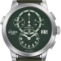 Glashütte Original Platinum Automatic Green Arabic numerals 44mm pre-owned