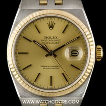 Rolex S/S & 18k Y/G Champagne Dial Oysterquartz Datejust...