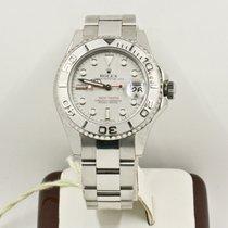 Rolex Yacht-Master 168622 35mm Platinum Dial & Bezel Box & Papers