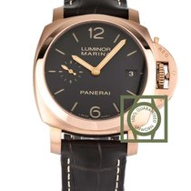 Panerai Luminor Marina 1950 3 days gold 42mm brown chocolate NEW
