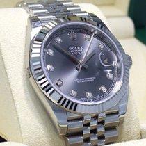 Rolex Datejust 126334 41mm Jubilee Rhodium Diamond Dial 18k W...