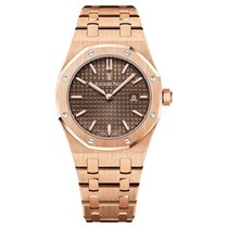 Audemars Piguet Royal Oak Lady Quartz Rose Gold Chocolate Dial...