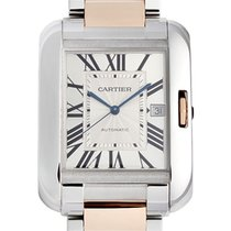 Cartier Tank Anglaise XL Model 18K Pink Gold Steel W5310006
