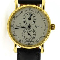 Chronoswiss Yellow gold Automatic Silver 38mm pre-owned Régulateur