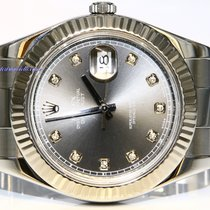 Rolex Datejust II 41mm diamond rhodium full set serviced
