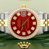 Rolex Datejust Stahl 31mm Rot