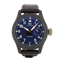 IWC Big Pilot Top Gun Керамика 46mm Чёрный Aрабские