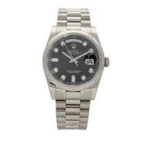 Rolex Day-Date 36 White gold 36mm Black No numerals