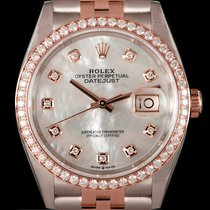 Rolex Datejust Gold/Steel 36mm Mother of pearl