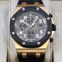 Audemars Piguet Red gold Automatic Black Arabic numerals 42mm pre-owned Royal Oak Offshore Chronograph