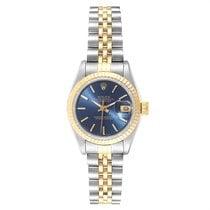 Rolex Lady-Datejust usados 26mm Azul Fecha Acero y oro
