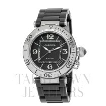 Cartier Pasha Seatimer Steel 40.5mm Black Arabic numerals United States of America, New York, Hartsdale