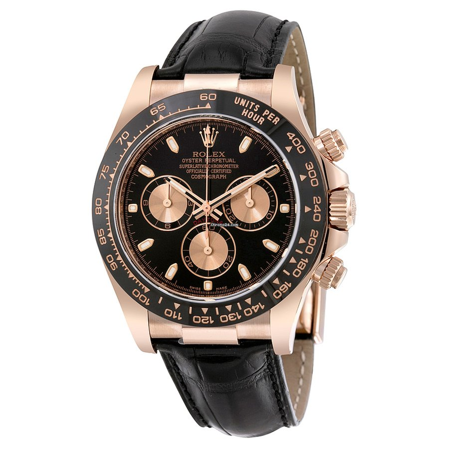 Rolex 116515LN bkp Daytona Everose Gold Leather Strap