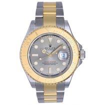 Rolex Yacht - Master Steel & Gold Men's 2-Tone Watch Gray Dial...