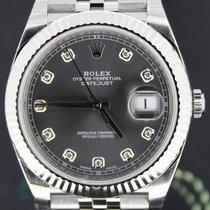Rolex Datejust 41mm, Jubilee Rhodium Diamond Dial Fluted Bezel