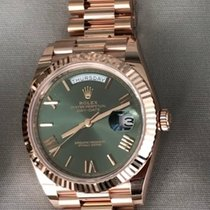 Rolex Day-Date 40 Oro rosa 40mm Marrón