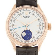 勞力士 Cellini Series 18k Rose Gold White Automatic 50535WT
