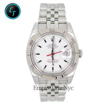 Rolex 116264 Datejust Turn-o-graph White Gold Fluted Bezel...