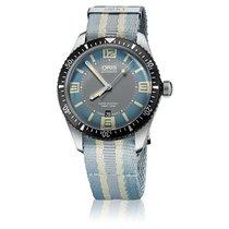Oris Divers Sixty Five Steel 40mm Blue Arabic numerals