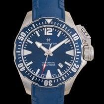 Hamilton Khaki Navy Frogman Acero 42mm Azul