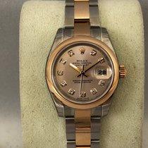 Rolex Lady-Datejust steel/pink gold Diamond dial 179161 / 26mm
