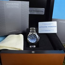 Panerai 40mm Automatic pre-owned Luminor Marina Automatic Blue