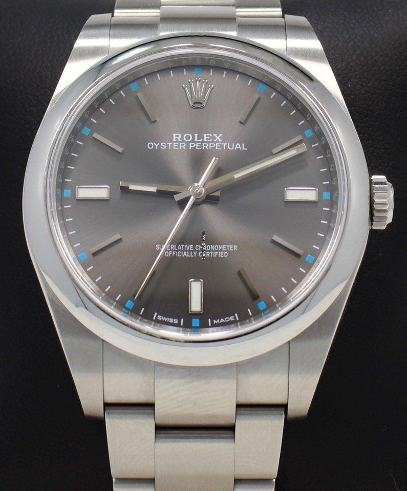 Rolex Oyster Perpetual 114300 Drso Dark Rhodium Dial 39mm MINT