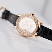 41e951277 Chopard Rose gold Automatic Mother of pearl Roman numerals 31.31mm new Happy  Sport