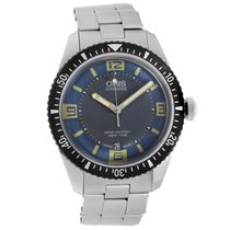 Oris Divers Sixty Five pre-owned 40mm Grey Date Fold clasp