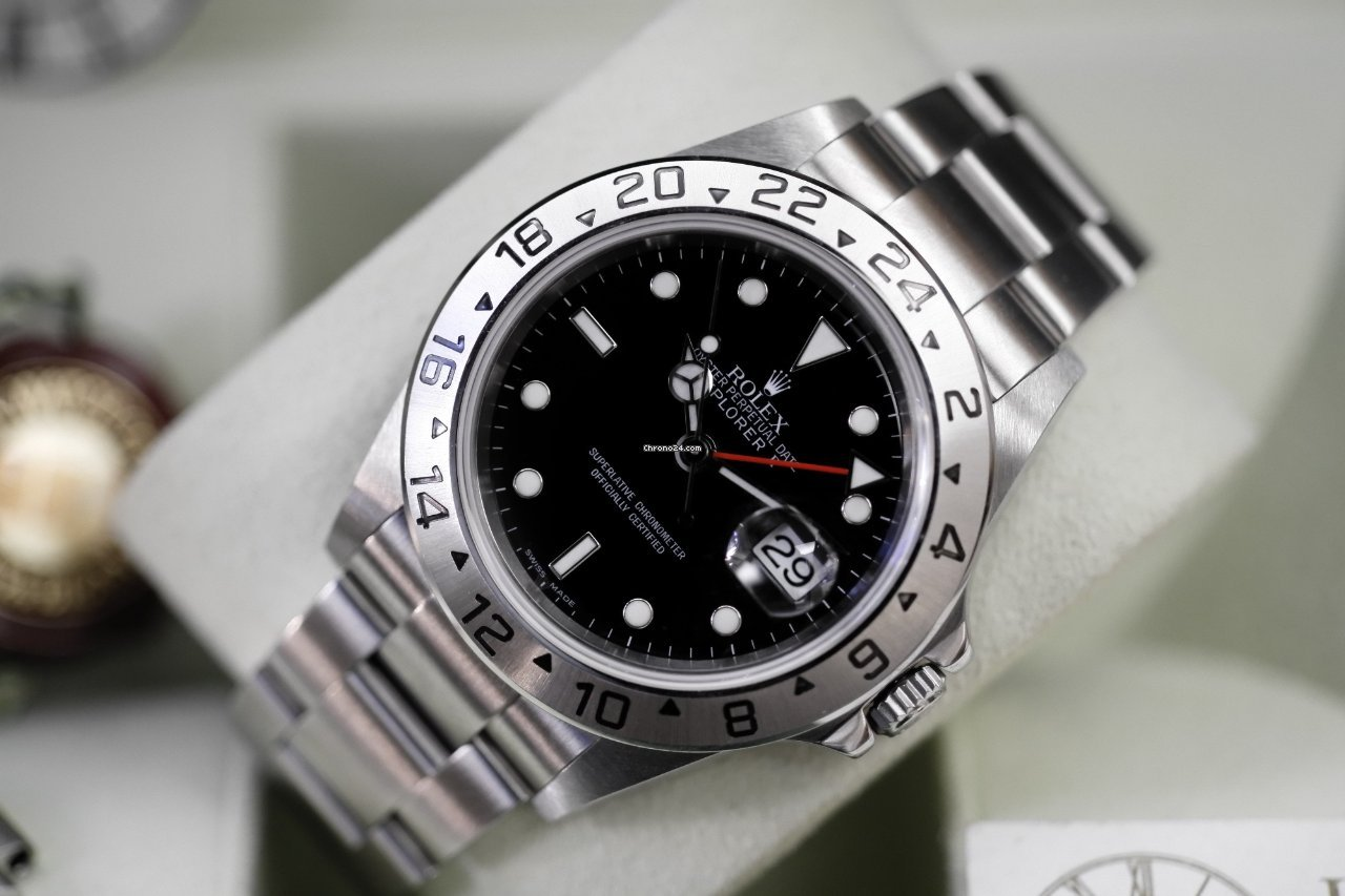 Ii Cal3186 Explorer Dial Top 16570 Black Rolex Bp Unpolished wv80mNn