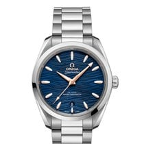 Omega Steel Automatic Blue No numerals 38mm new Seamaster Aqua Terra